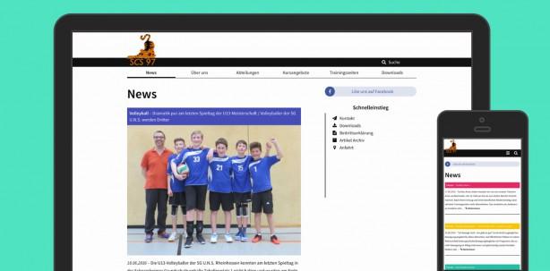 Neue Website des SCS